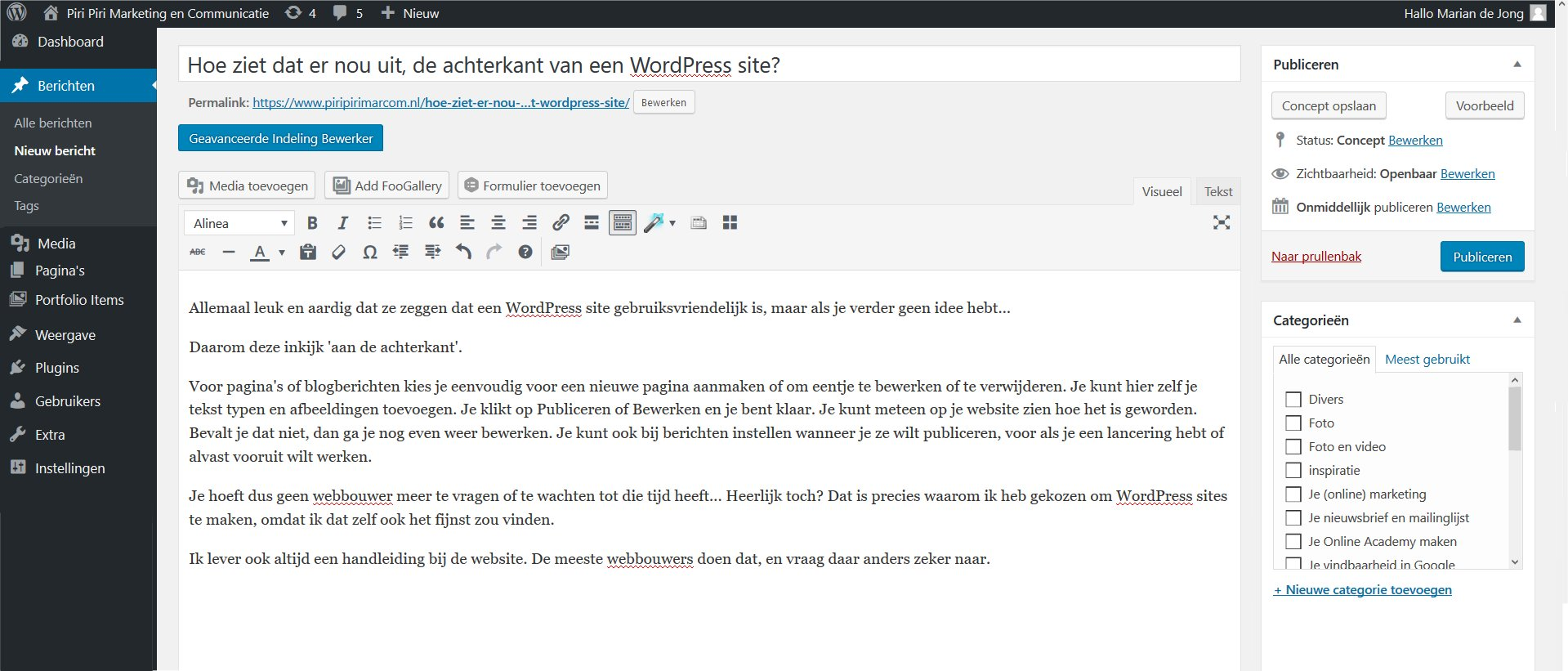 WordPress, gebruiksvriendelijk, CMS
